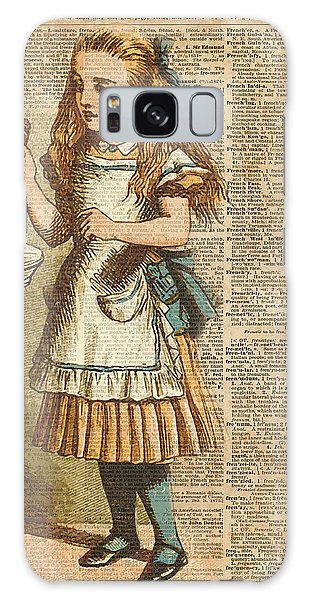 Poster Galaxy Case - Alice In Wonderland Drink Me Vintage Dictionary Art Illustration by Anna W
