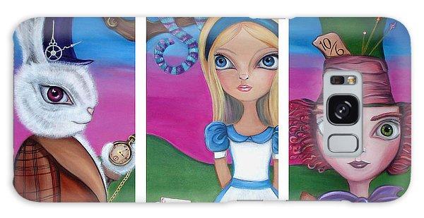 Clock Galaxy Case - Alice In Wonderland Inspired Triptych by Jaz Higgins