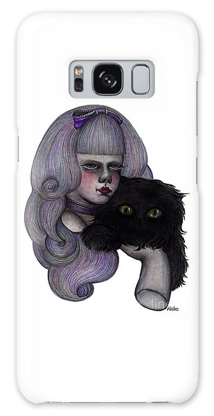 Alice With Black Cat Galaxy Case