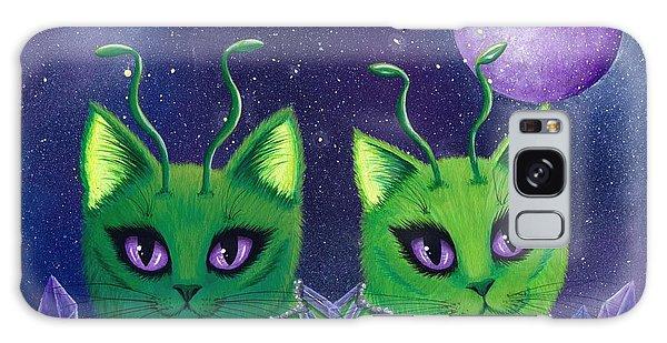 Alien Cats Galaxy Case