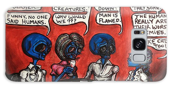 Alien Couples Discuss The Earths Creatures Over Drinks Galaxy Case