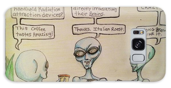 Alien Friends Coffee Talk About Cellular Galaxy Case
