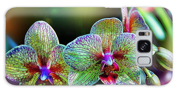 Orchidaceae Galaxy Case - Alien Orchids by Bill Tiepelman