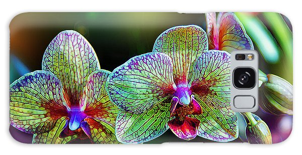 Orchid Galaxy Case - Alien Orchids by Bill Tiepelman