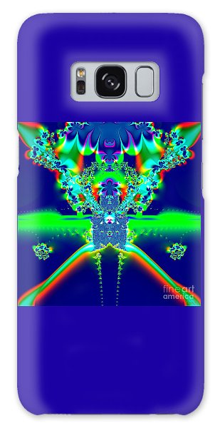 Alien Poodle Fractal 96 Galaxy Case