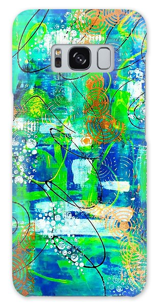 All A Whirl Galaxy Case by Julie Hoyle