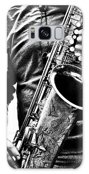 Saxophone Galaxy Case - All Blues Man With Jazz On The Side by Bob Orsillo