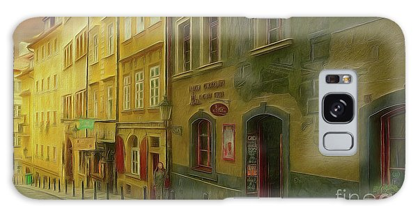 All Downhill From Here - Prague Street Scene Galaxy Case