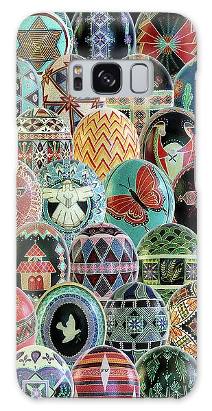 All Ostrich Eggs Collage Galaxy Case