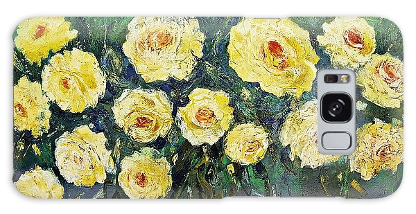 All Yellow Roses Galaxy Case