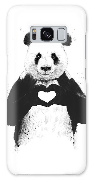 White Galaxy Case - All You Need Is Love by Balazs Solti