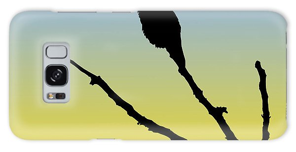 Allen's Hummingbird Silhouette At Sunrise Galaxy Case