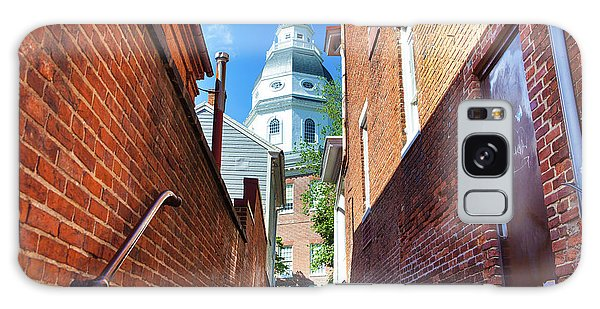Alley View Of Maryland State House  Galaxy Case