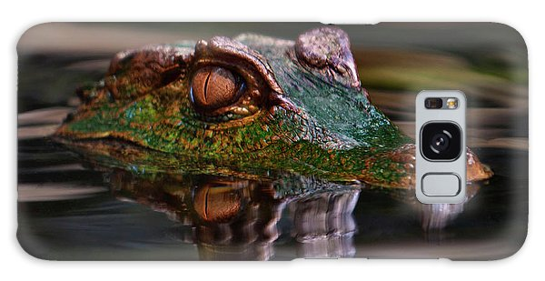 Alligator Above Water Reflection Galaxy Case by Loriannah Hespe