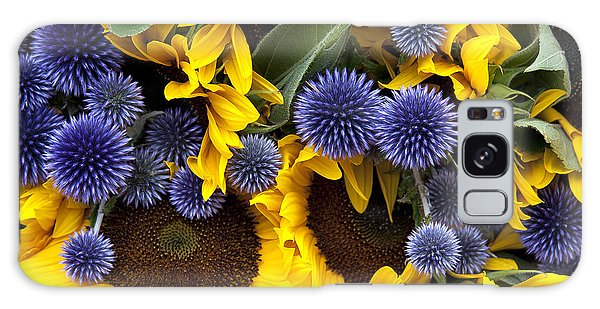 Allium And Sunflowers Galaxy Case