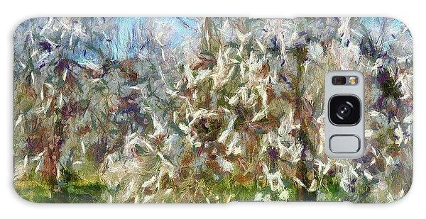 Almond Orchard Blossom Galaxy Case