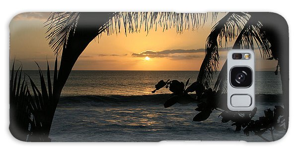 Aloha Aina The Beloved Land - Sunset Kamaole Beach Kihei Maui Hawaii Galaxy Case