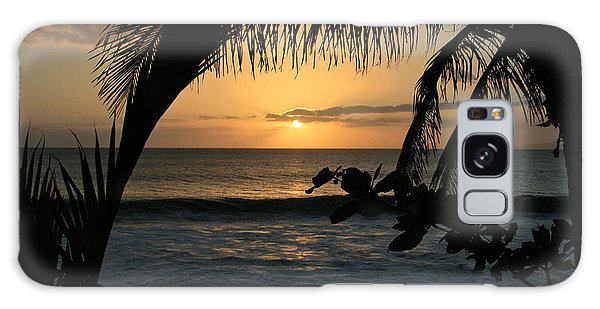 Aloha Aina The Beloved Land - Sunset Kamaole Beach Kihei Maui Hawaii Galaxy Case by Sharon Mau