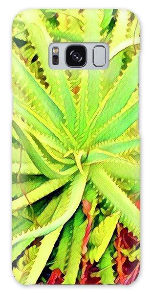 Aloha Aloe In Puna In Lime Galaxy Case