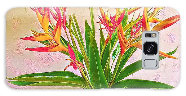 Aloha Bouquet Of The Day Halyconia And Birds In Pink Galaxy Case