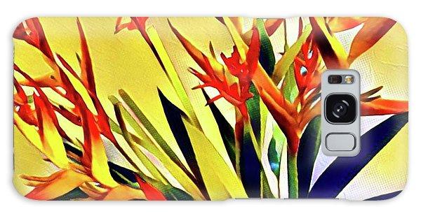 Aloha Bouquet Of The Day - Halyconia Birds In Orange Galaxy Case
