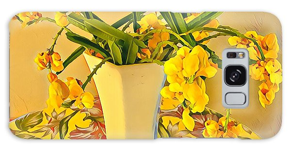 Aloha Bouquet Of The Day - Yellow Wild Flowers Galaxy Case