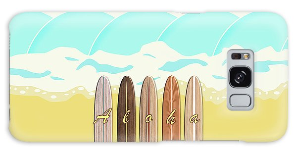Aloha Surf Wave Beach Galaxy Case