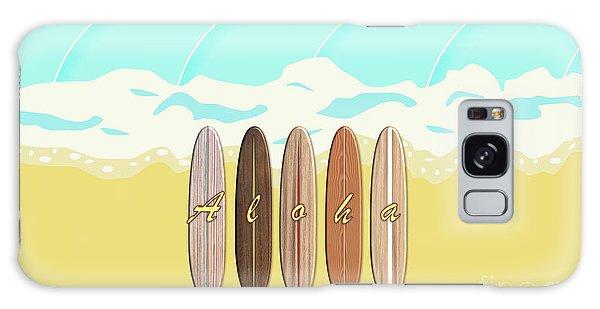 Aloha Surf Wave Beach Galaxy Case