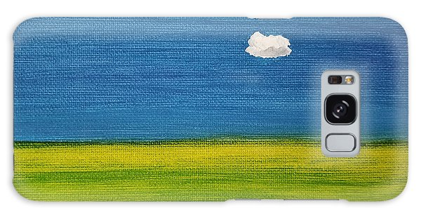 Galaxy Case featuring the painting Alone And Fine by Judith Rhue