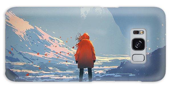 Alone In Winter Galaxy Case