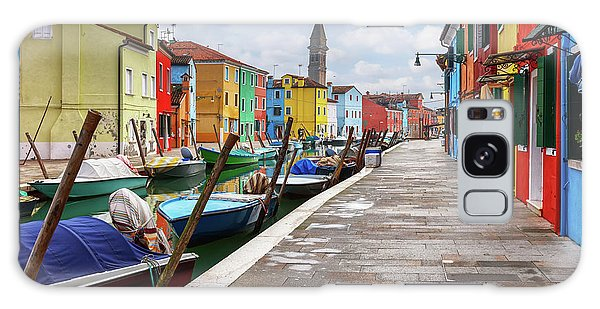 Along The Canal In Burano Island Galaxy Case