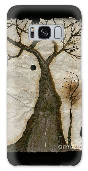 Along The Crumbling Fork In The Road Of The Tree Of Life Acfrtl Galaxy Case by Talisa Hartley