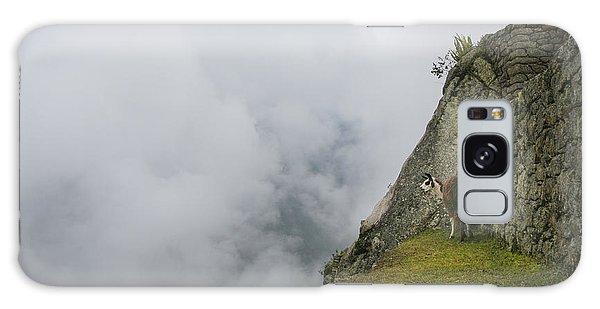 Alpaca On The Edge Galaxy Case