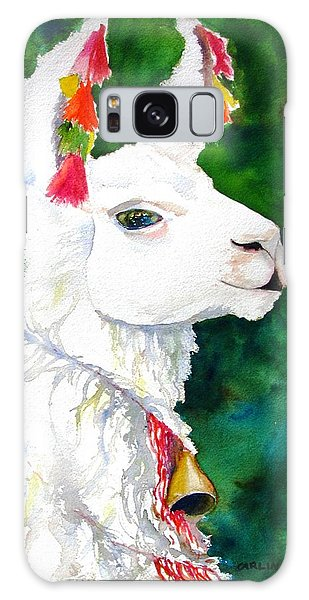Watercolor Pet Portraits Galaxy Case - Alpaca With Attitude by Carlin Blahnik CarlinArtWatercolor
