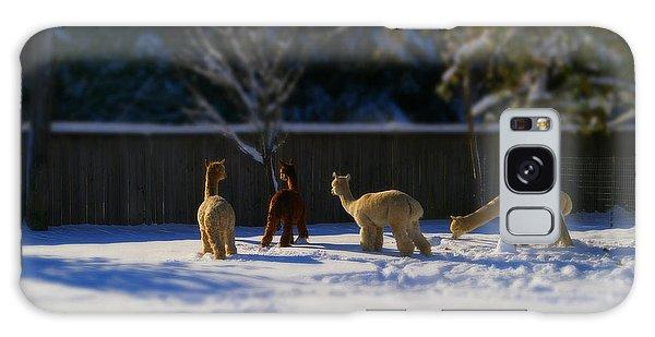 Alpacas In The Snow Galaxy Case
