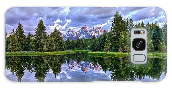 Alpenglow In The Tetons Galaxy Case