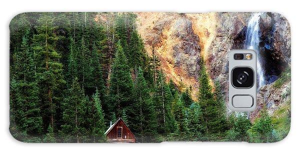 Alpine Cabin Galaxy Case by Lana Trussell