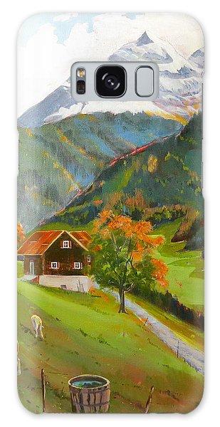 Alpine Farm Near Buerglen In Canton Uri Galaxy Case by David Gilmore