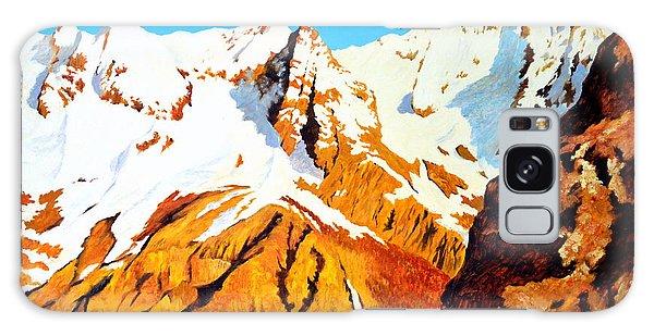 Alpine Landscape Galaxy Case by Henryk Gorecki