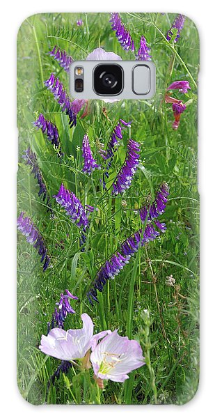 Alpine Vetch And Primroses Galaxy Case