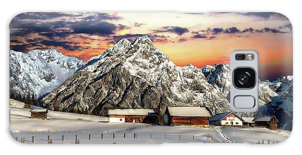 Alpine Winter Scene Galaxy Case