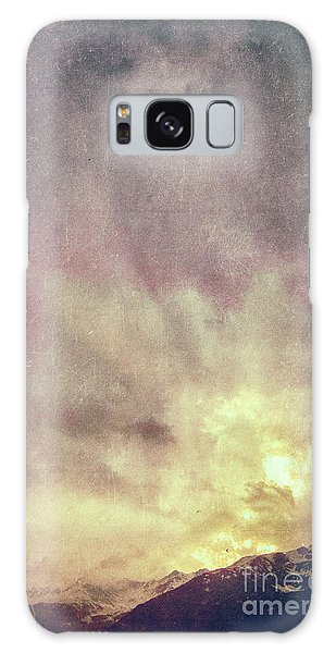 Galaxy Case featuring the photograph Alps With Dramatic Sky by Silvia Ganora