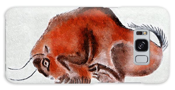 Altamira Prehistoric Bison At Rest Galaxy Case