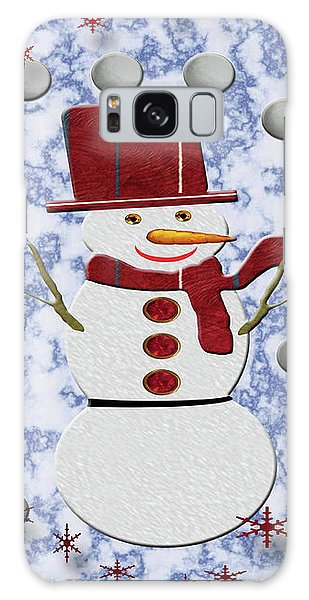 Galaxy Case featuring the photograph Alto Cheerful Snowman by Rockin Docks Deluxephotos