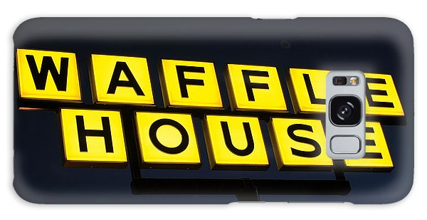 Always Open Waffle House Classic Signage Art  Galaxy Case