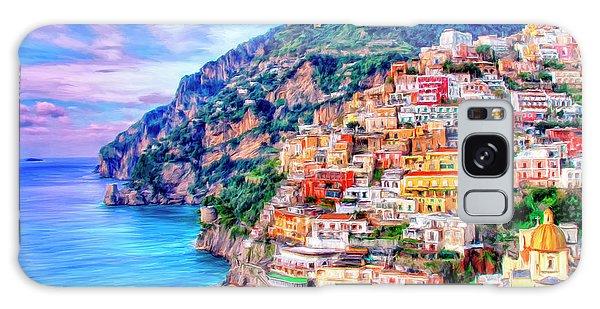 Amalfi Coast At Positano Galaxy Case