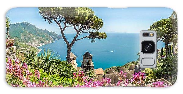 Amalfi Coast From Villa Rufolo Gardens In Ravello, Campania, Ita Galaxy Case