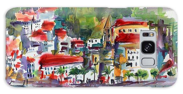 Amalfi Coast Italy Expressive Watercolor Galaxy Case