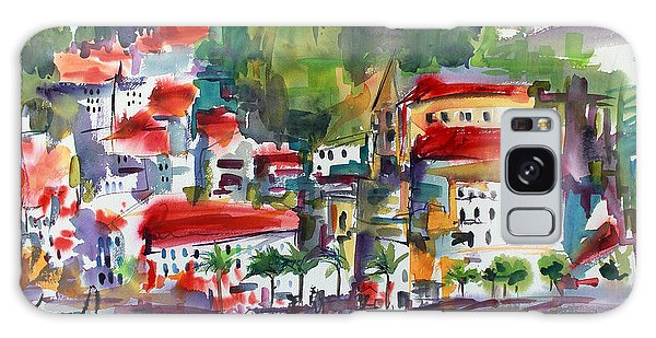 Amalfi Coast Italy Expressive Watercolor Galaxy Case