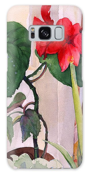 Amaryllis And Begonia Galaxy Case by Nancy Watson